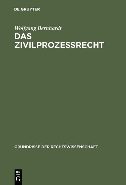 Das Zivilprozeßrecht - Coverbild