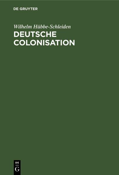 Deutsche Colonisation - Coverbild