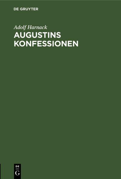 Augustins Konfessionen - Coverbild