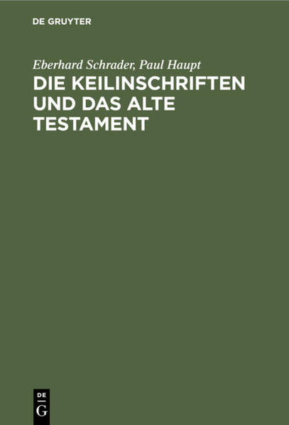 Die Keilinschriften und das Alte Testament - Coverbild