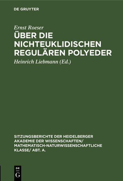 Über die nichteuklidischen regulären Polyeder - Coverbild