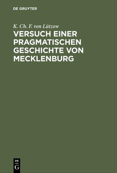 [Versuch einer pragmatischen Geschichte von Mecklenburg] Versuch einer pragmatischen Geschichte von Mecklenburg - Coverbild