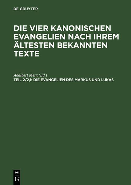 Die Evangelien des Markus und Lukas - Coverbild