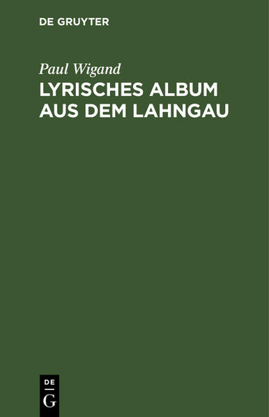 Lyrisches Album aus dem Lahngau - Coverbild
