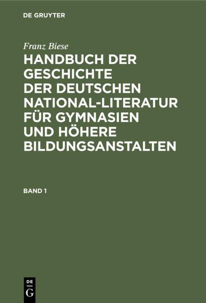 Handbuch der Geschichte der deutschen National-Literatur für Gymnasien und höhere Bildungsanstalten - Coverbild
