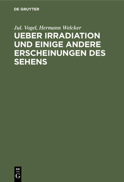Ueber Irradiation und einige andere Erscheinungen des Sehens - Coverbild