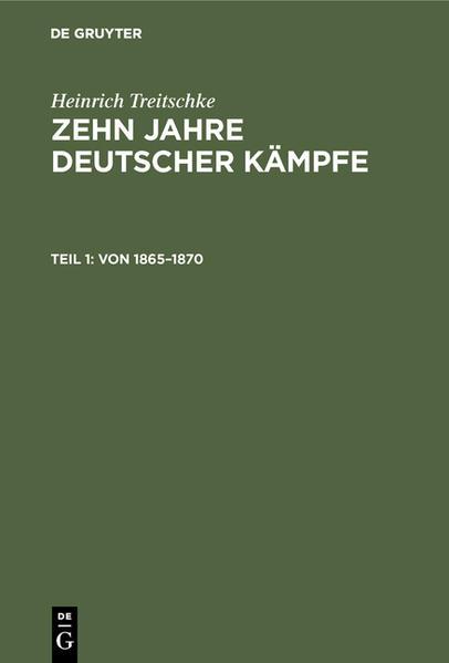 Von 1865 - 1870 - Coverbild
