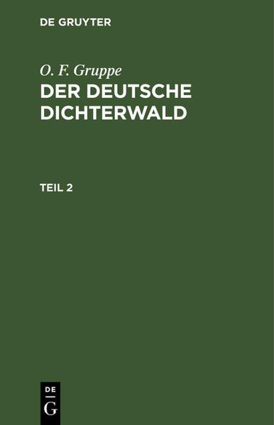 Der deutsche Dichterwald - Coverbild