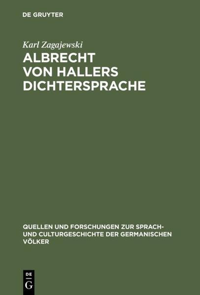 Albrecht von Hallers Dichtersprache - Coverbild