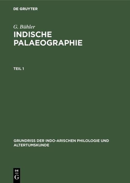 Indische Palaeographie von circa 350 a. Chr. - circa 1300 p. Chr. - Coverbild