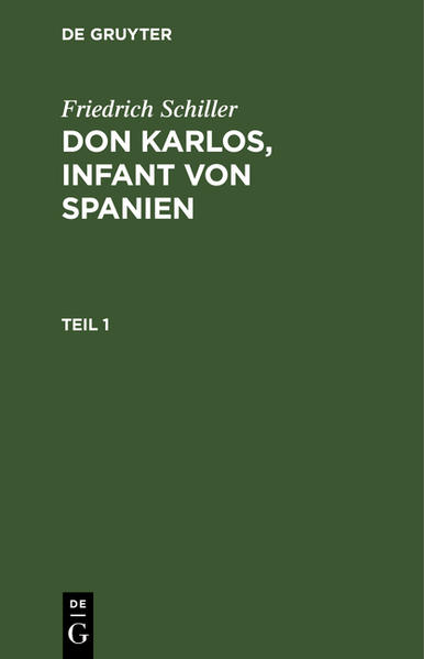 Don Karlos Infant von Spanien : Mit zwey Kupfern - Coverbild