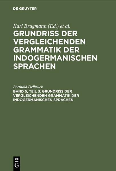 Vergleichende Syntax der indogermanischen Sprachen - Coverbild