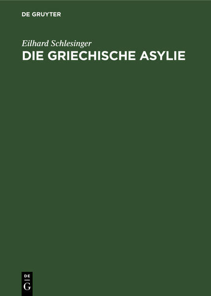 Die griechische Asylie - Coverbild