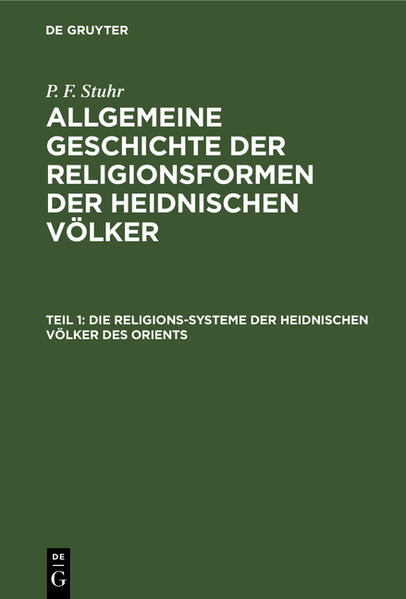 Die Religions-Systeme der heidnischen Völker des Orients - Coverbild