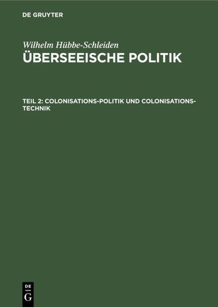 Colonisations-Politik und Colonisations-Technik - Coverbild