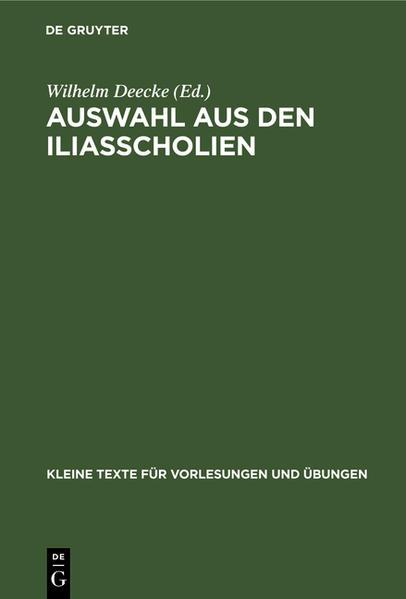 Auswahl aus den Iliasscholien - Coverbild