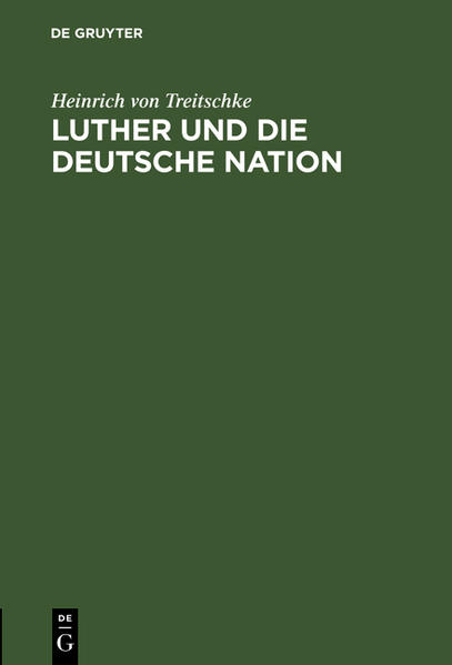 Luther und die deutsche Nation - Coverbild