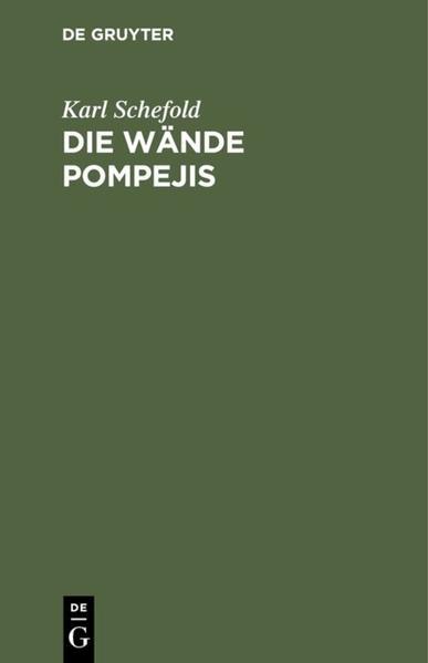 Die Wände Pompejis - Coverbild