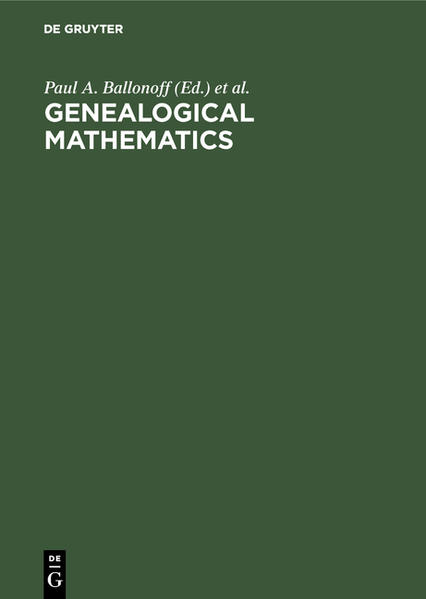 Genealogical mathematics - Coverbild