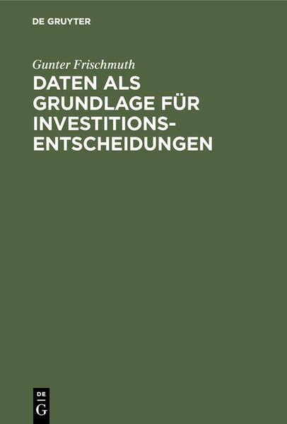 Daten als Grundlage für Investitionsentscheidungen - Coverbild
