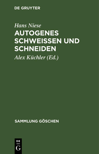 Autogenes Schweißen und Schneiden - Coverbild
