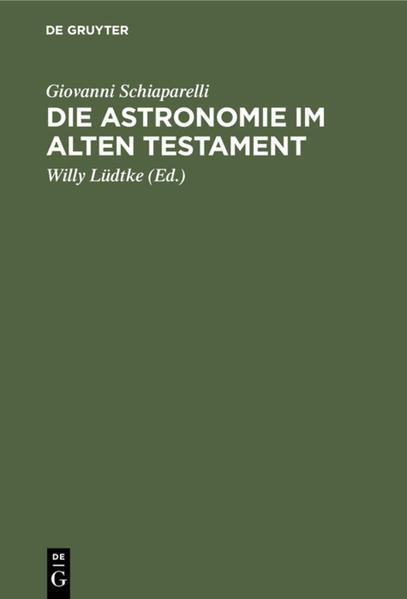 Die Astronomie im Alten Testament - Coverbild