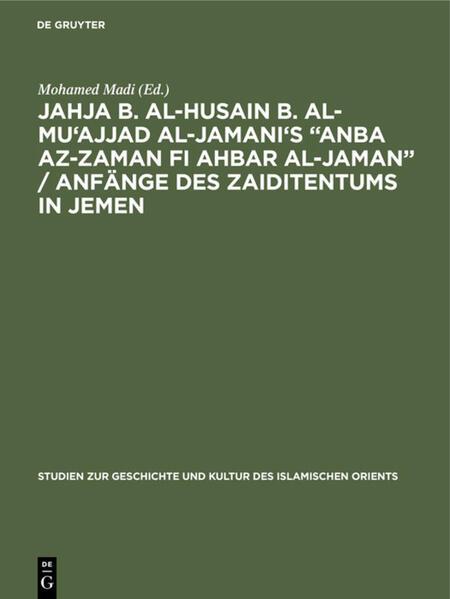 Jahja b. al-Husain b. al-Mu'ajjad al-Jamani's