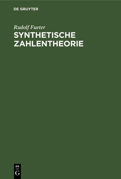 Synthetische Zahlentheorie - Coverbild