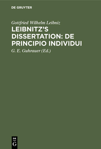 Leibnitz's Dissertation de principio individui - Coverbild
