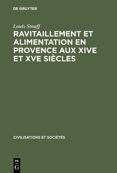 Ravitaillement et alimentation en Provence aux XIVe et XVe siècles - Coverbild