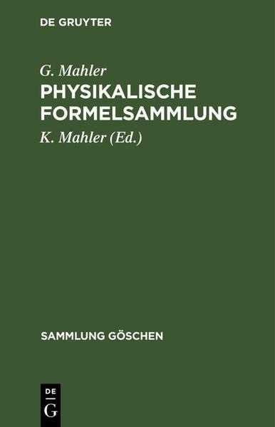 Physikalische Formelsammlung - Coverbild