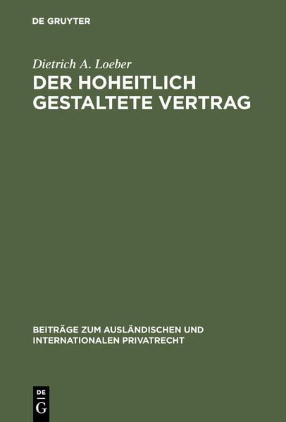 Der hoheitlich gestaltete Vertrag - Coverbild