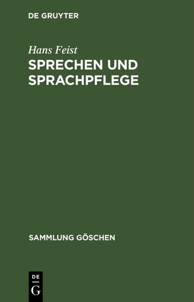 Sprechen und Sprachpflege - Coverbild