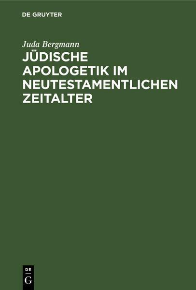 Jüdische Apologetik im neutestamentlichen Zeitalter - Coverbild