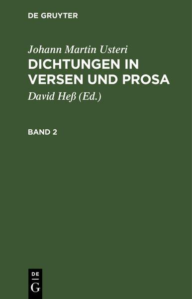 Dichtungen in Versen und Prosa : nebst einer Lebensbeschreibung des Verfassers - Coverbild