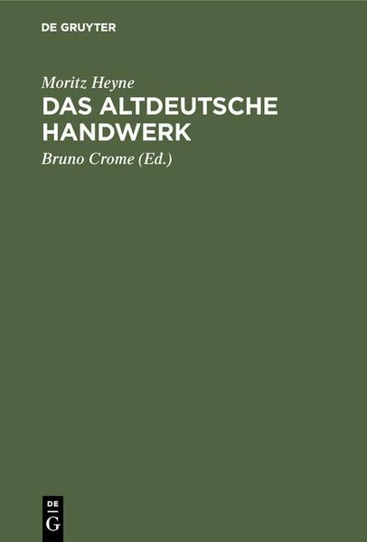 Das altdeutsche Handwerk - Coverbild