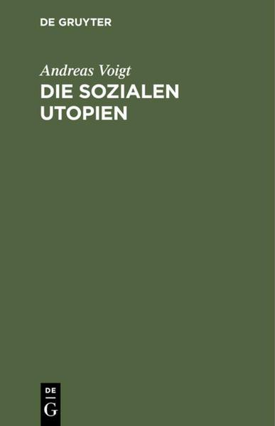 Die sozialen Utopien - Coverbild