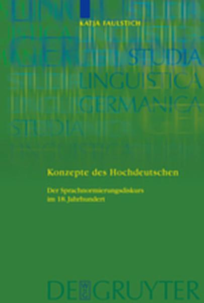 Konzepte des Hochdeutschen - Coverbild