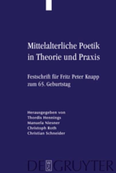 Mittelalterliche Poetik in Theorie und Praxis - Coverbild