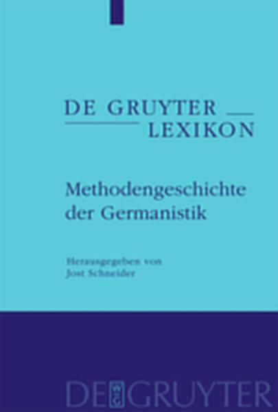 Methodengeschichte der Germanistik - Coverbild