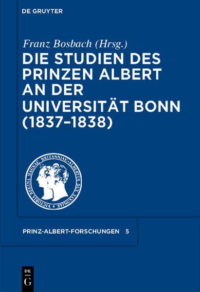 Die Studien des Prinzen Albert an der Universität Bonn (1837-1838) - Coverbild