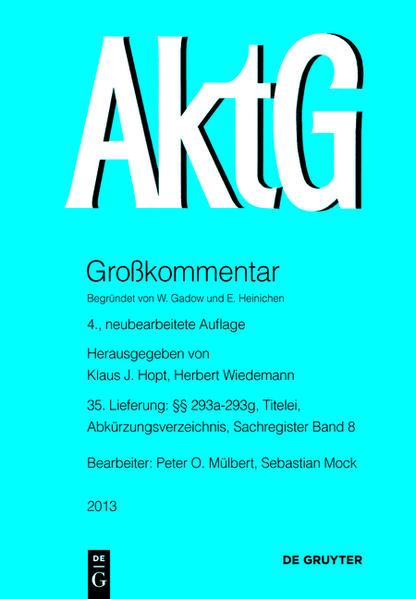 Aktiengesetz / §§ 293a-293g - Coverbild