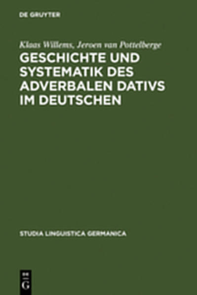 Geschichte und Systematik des adverbalen Dativs im Deutschen - Coverbild