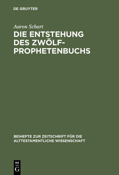 Die Entstehung des Zwölfprophetenbuchs - Coverbild