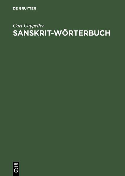 Sanskrit-Wörterbuch - Coverbild
