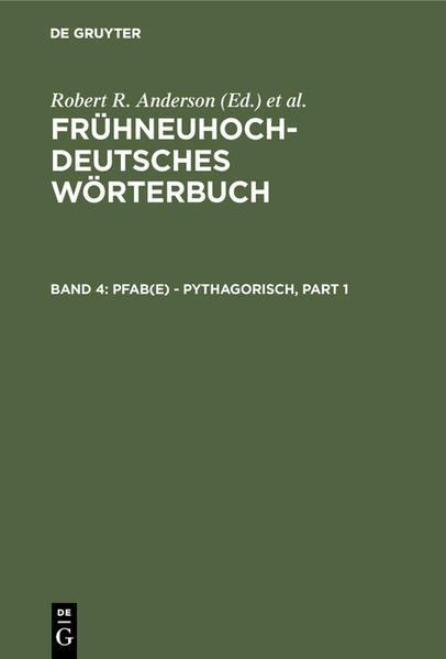 Frühneuhochdeutsches Wörterbuch / pfab(e) - pythagorisch - Coverbild