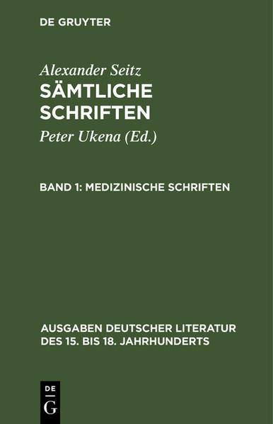 Sämtliche Schriften / Medizinische Schriften - Coverbild