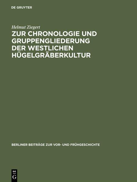 Zur Chronologie und Gruppengliederung der westlichen Hügelgräberkultur - Coverbild