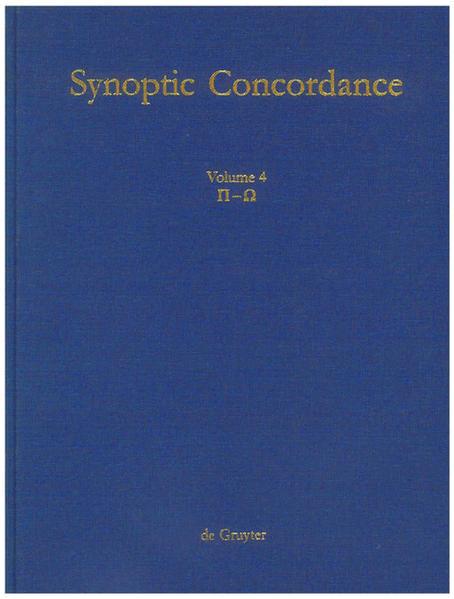 Paul Hoffmann; Thomas Hieke; Ulrich Bauer: Synoptic Concordance / P[i] - O[mega] - Coverbild