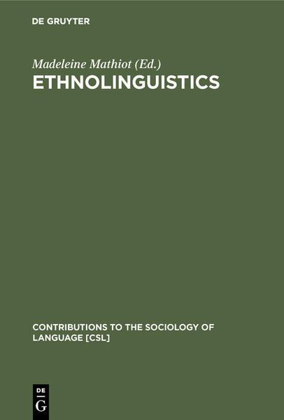 Ethnolinguistics - Coverbild